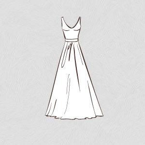 a-line wedding dress shape silhouette