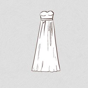 empire wedding dress shape silhouette