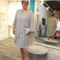 Dressed up silver grey dress